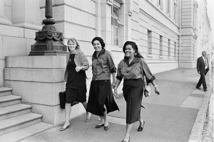 Attorney Christine Berger, Colleen Lombard and (unknown) outside the Supreme / High Court during the Yengeni Trial.