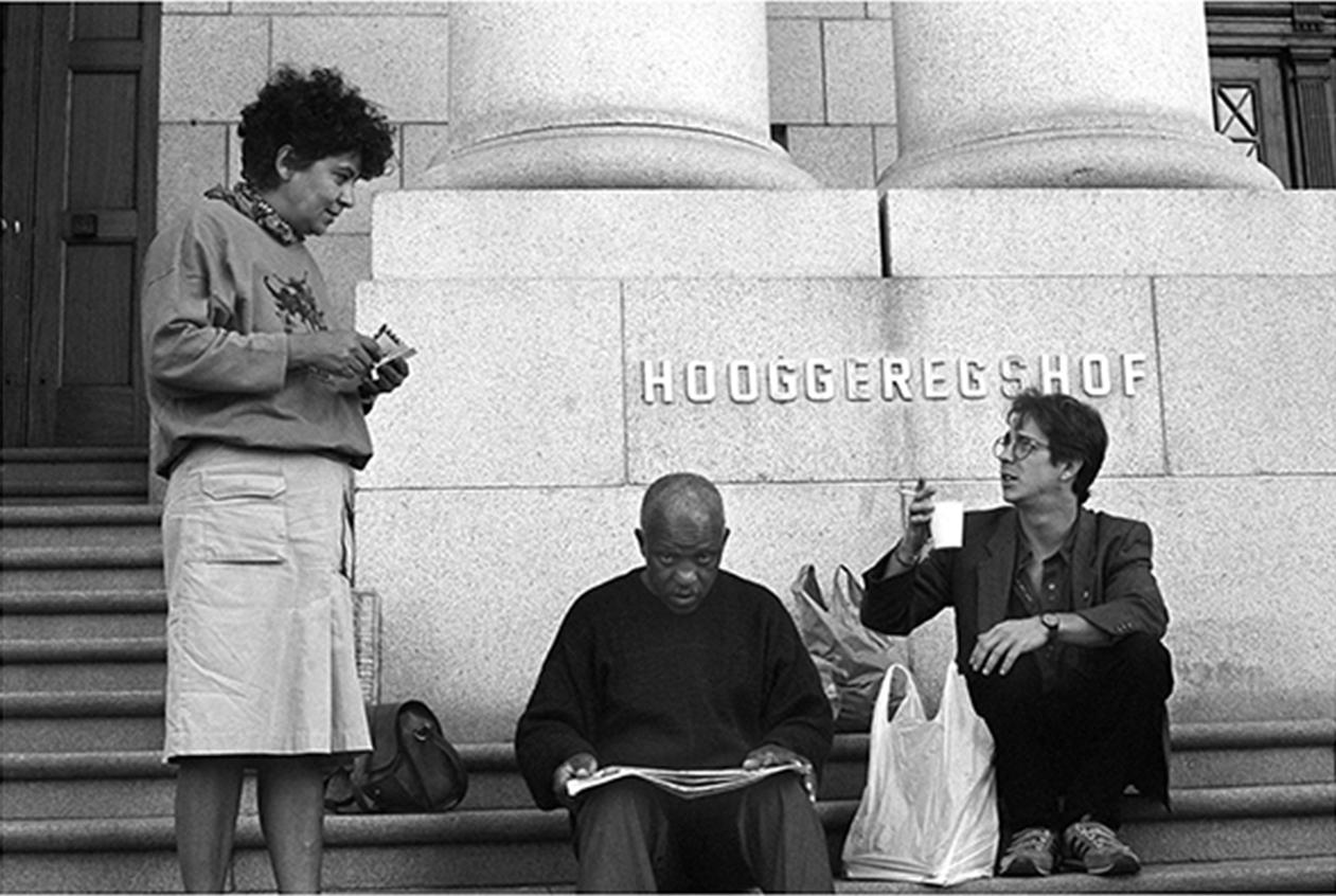 Colleen Lombard, Alpheus Ndude and Chris Giffard