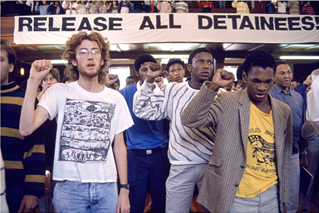 A support rally for detainees held in Jamieson Hall at the University of Cape Town in 1986