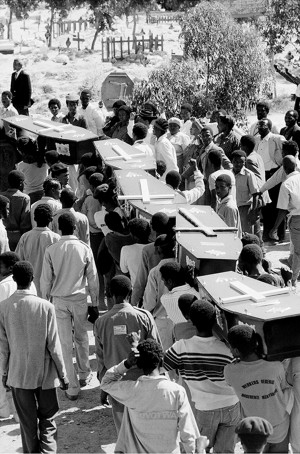 Mass funeral at the Guguletu Cemetery